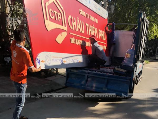 Thi công bảng hiệu quảng cáo alu chữ nổi tại Sơn Trà, Đà Nẵng