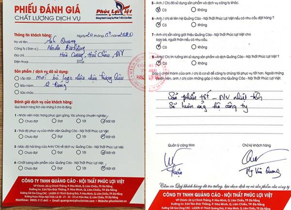 Danh Gia Dich Vu Quang Cao Phuc Loi Viet Cua Quy Khach Nada Building