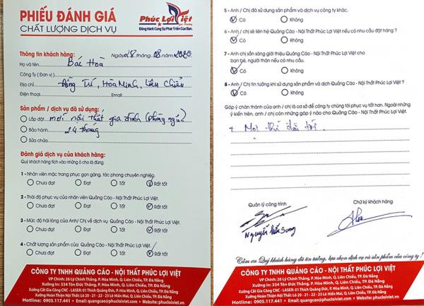 Danh Gia Dich Vu Noi That Dep Da Nang Cua Khach Hang