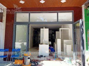 thi công nội thất gỗ công nghiệp showroom văn phòng tại hải châu đà nẵng