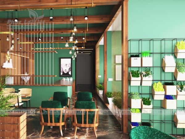 thiết kế nội thất quán cafe tại liên chiểu đà nẵng