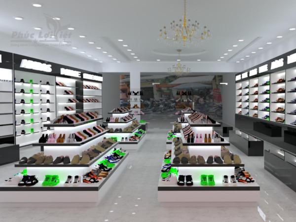 thiết kế nội thất showroom giày dép tại liên chiểu đà nẵng