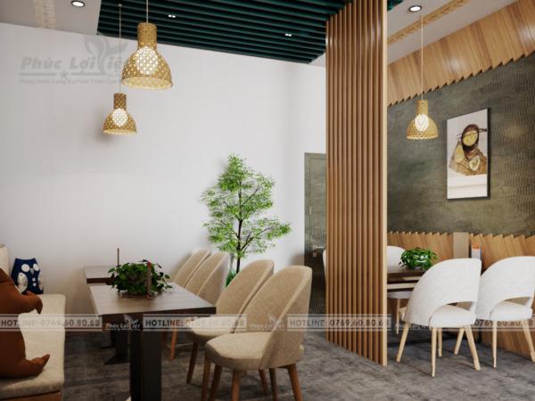 thiết kế nội thất quán trà sữa tại Đà Nẵng