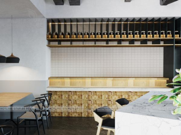 thiết kế nội thất quán trà sữa tại Hải Châu, Đà Nẵng