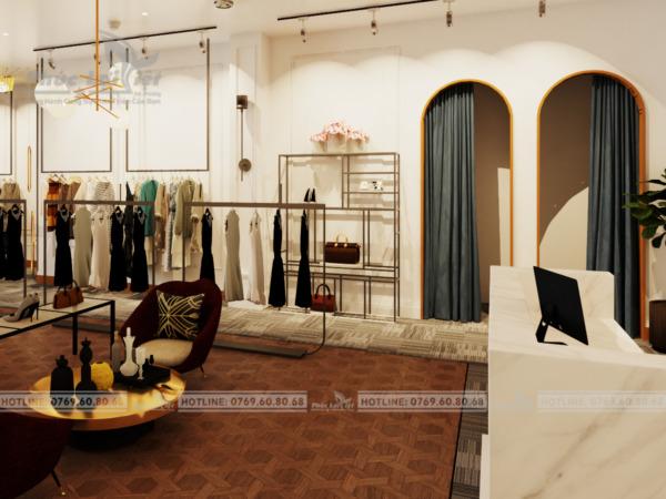 thiết kế nội thất showroom thời trang nữ tại Đà Nẵng