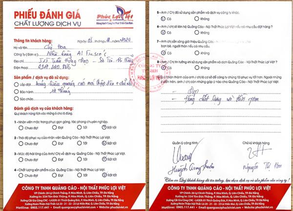 Danh Gia Dich Vu Quang Cao Phuc Loi Viet Tai Tran Hung Dao