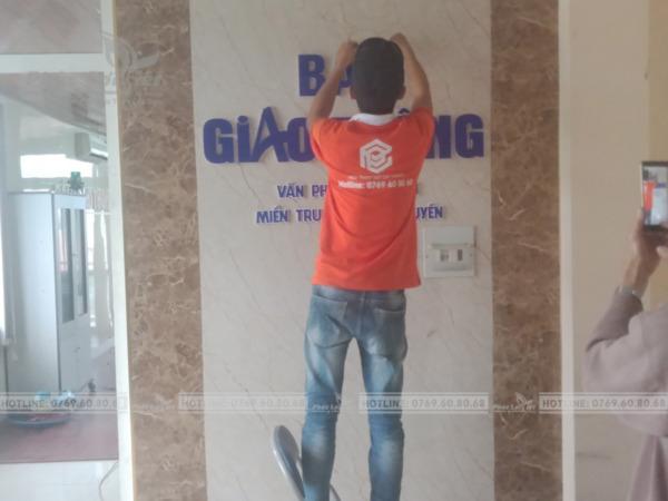 Thi công bảng hiệu quảng cáo VP Báo Giao Thông tại Đà Nẵng