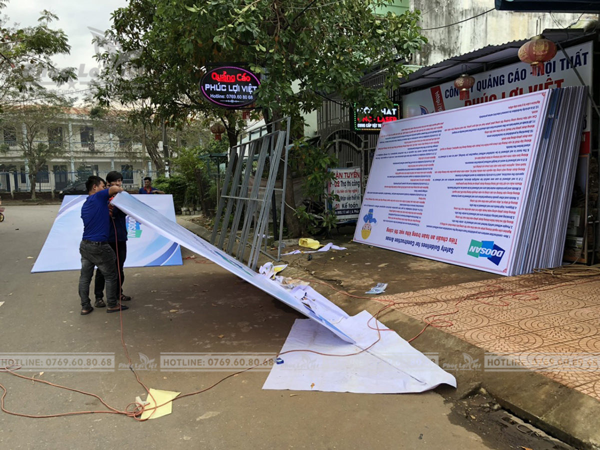 thi công pano hàng rào tại Đà Nẵng
