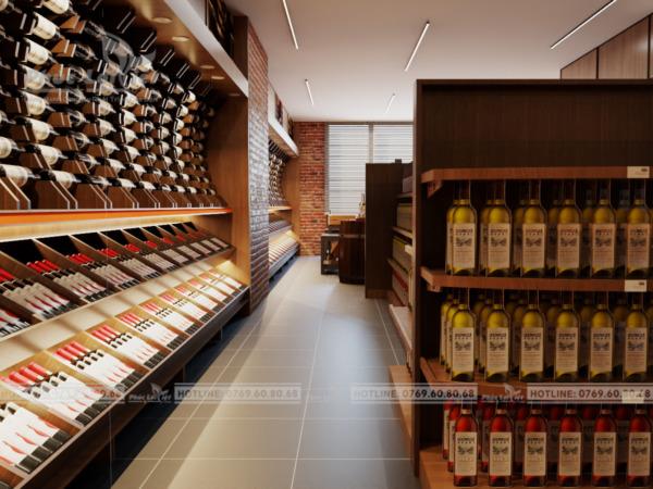 thiết kế nội thất showroom rượu tại Đà Nẵng