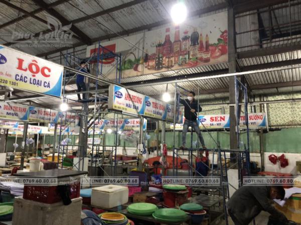 thi công bảng hiệu pano quảng cáo tại Chợ Cồn Đà Nẵng