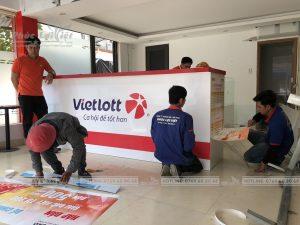 thi công hoàn thiện văn phòng vietlott tại Đà Nẵng