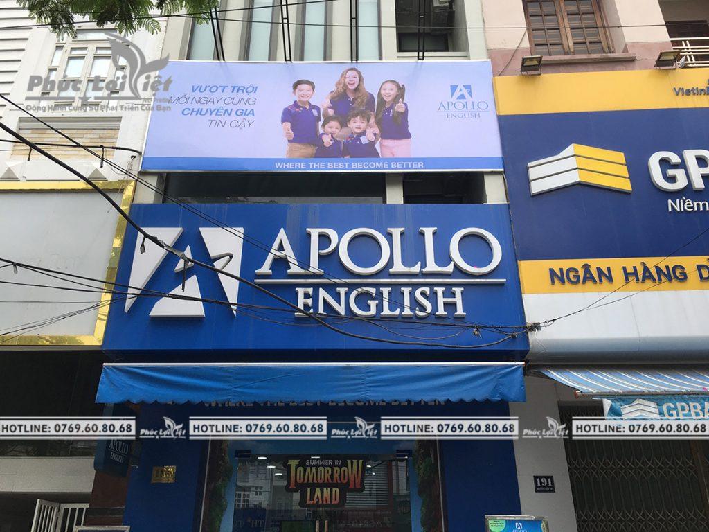 thi công bảng hiệu quảng cáo tại Anh ngữ Apolo Đà Nẵng