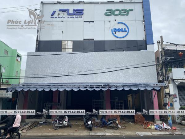 Thi công bộ chữ Inox trắng tại Đà Nẵng