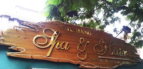 Bảng hiệu gỗ đẹp - giá rẻ - Phúc Lợi Việt Đà Nẵng