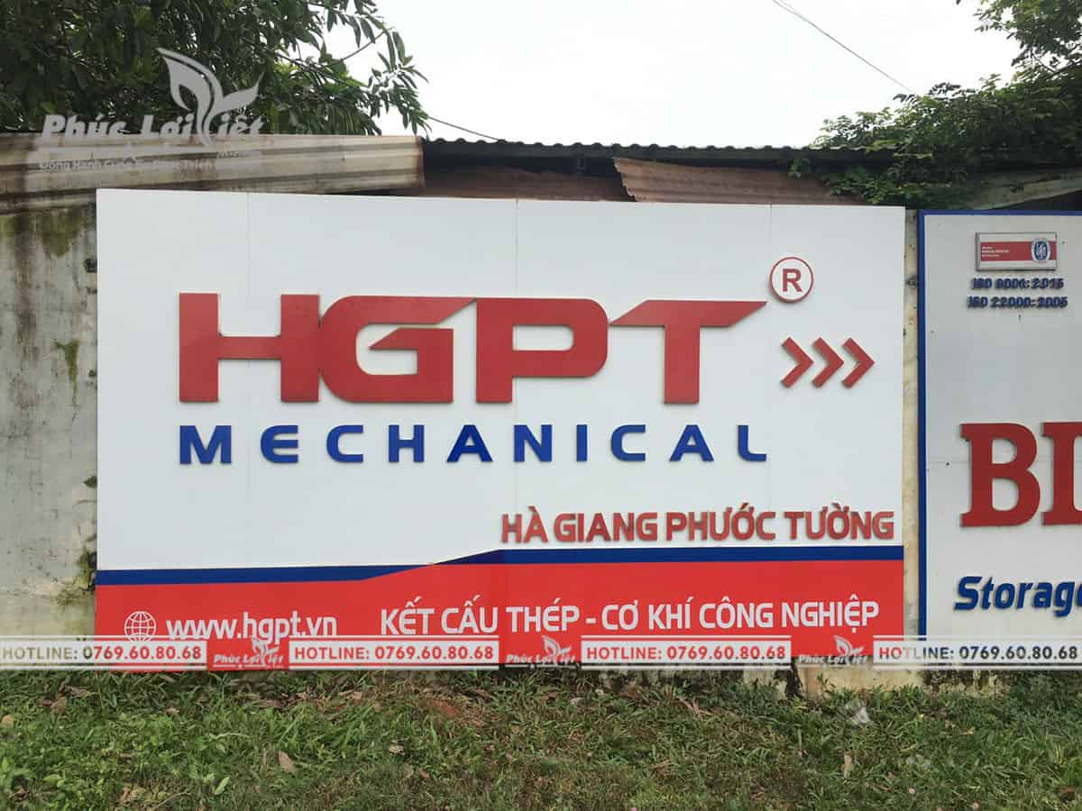 Sửa chữa bảng hiệu cho công ty Hà Giang Phước Tường - Phúc Lợi Việt Đà Nẵng