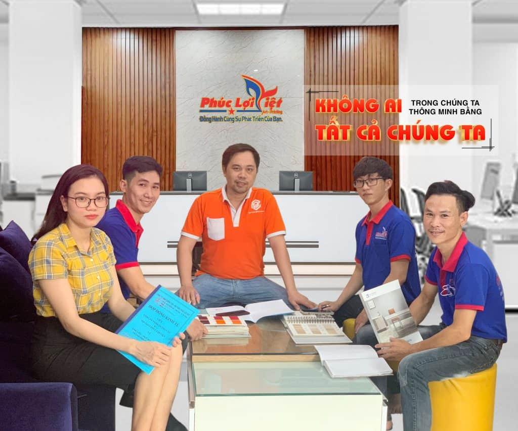 Team kinh doanh Quảng cáo - Nội thất Phúc Lợi Việt